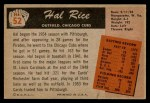 1955 Bowman #52  Hal Rice  Back Thumbnail