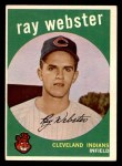 1959 Topps #531  Ray Webster  Front Thumbnail