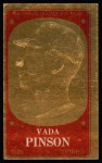 1965 Topps Embossed #42   Vada Pinson   Front Thumbnail