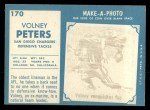 1961 Topps #170  Volney Peters  Back Thumbnail
