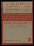 1965 Philadelphia #106  Paul Flatley   Back Thumbnail