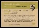 1961 Fleer #159  Howard Clark  Back Thumbnail