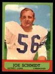 1963 Topps #35  Joe Schmidt  Front Thumbnail