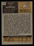 1971 Topps #17  Lloyd Mumphord  Back Thumbnail