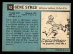 1964 Topps #40  Gene Sykes  Back Thumbnail