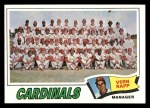 1977 Topps #183   -  Vern Rapp Cardinals Team Checklist Front Thumbnail