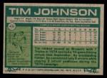 1977 Topps #406  Tim Johnson  Back Thumbnail