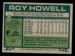 1977 Topps #608  Roy Howell  Back Thumbnail