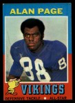 1971 Topps #71  Alan Page  Front Thumbnail