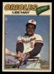 1977 Topps Cloth Stickers #26  Lee May  Front Thumbnail