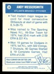1977 Topps Cloth Stickers #28  Andy Messersmith  Back Thumbnail