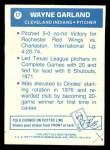 1977 Topps Cloth Stickers #17  Wayne Garland  Back Thumbnail