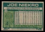 1977 Topps #116  Joe Niekro  Back Thumbnail
