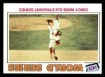 1977 Topps #413   -  Tony Perez / Will McEnaney 1976 World Series - Cincy Wins 2nd Straight Series Front Thumbnail