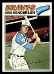 1977 Topps #242  Ken Henderson  Front Thumbnail