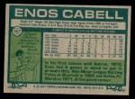 1977 Topps #567  Enos Cabell  Back Thumbnail