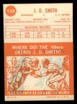 1963 Topps #135  J.D. Smith  Back Thumbnail
