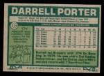 1977 Topps #214  Darrell Porter  Back Thumbnail