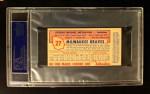 1954 Johnston Cookies #27  George Metkovich   Back Thumbnail