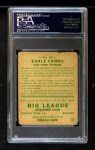 1933 Goudey #103  Earle Combs  Back Thumbnail
