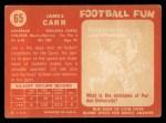 1958 Topps #65  Jimmy Carr  Back Thumbnail