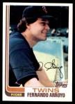 1982 Topps #18  Fernando Arroyo  Front Thumbnail