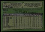 1982 Topps #403  Jim Tracy  Back Thumbnail