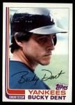 1982 Topps #240  Bucky Dent  Front Thumbnail