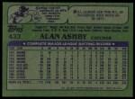 1982 Topps #433  Alan Ashby  Back Thumbnail