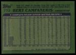 1982 Topps #772  Bert Campaneris  Back Thumbnail