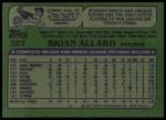 1982 Topps #283  Brian Allard  Back Thumbnail