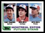 1982 Topps #118   -  Bryn Smith / Terry Francona / Brad Mills Expos Rookies Front Thumbnail