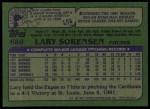 1982 Topps #689  Larry Sorenson  Back Thumbnail