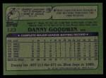 1982 Topps #123  Danny Goodwin  Back Thumbnail