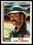 1982 Topps #422  Cliff Johnson  Front Thumbnail