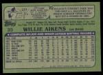 1982 Topps #35  Willie Aikens  Back Thumbnail