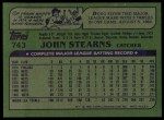 1982 Topps #743  John Stearns  Back Thumbnail