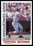 1982 Topps #661   -  Dave Concepcion In Action Front Thumbnail