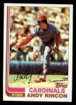1982 Topps #135  Andy Rincon  Front Thumbnail