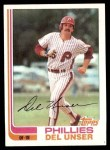 1982 Topps #713  Del Unser  Front Thumbnail