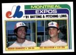 1982 Topps #526   -  Warren Cromartie / Bill Gullickson Expos Leaders Front Thumbnail