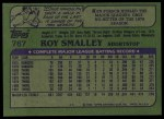 1982 Topps #767  Roy Smalley  Back Thumbnail