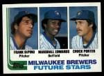 1982 Topps #333   -  Marshall Edwards / Chuck Porter / Frank DiPino Brewers Leaders Front Thumbnail