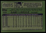 1982 Topps #209  Gary Lavelle  Back Thumbnail