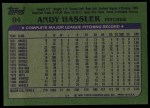 1982 Topps #94  Andy Hassler  Back Thumbnail