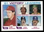 1982 Topps #165   -  Tom Seaver / Dennis Martinez / Steve McCatty / Jack Morris / Pete Vuckovich Wins Leaders Front Thumbnail
