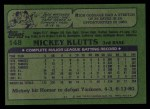 1982 Topps #148  Mickey Klutts  Back Thumbnail
