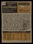 1971 Topps #3  Marty Schottenheimer  Back Thumbnail