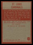 1965 Philadelphia #155   St Louis Cardinals  Back Thumbnail