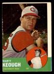 1963 Topps #21 BLU Marty Keough  Front Thumbnail